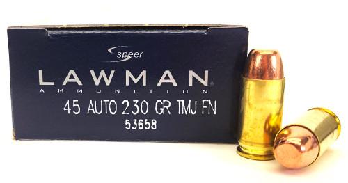 45 ACP 230 Grain TMJ-FN Speer Lawman 53658 CC5365