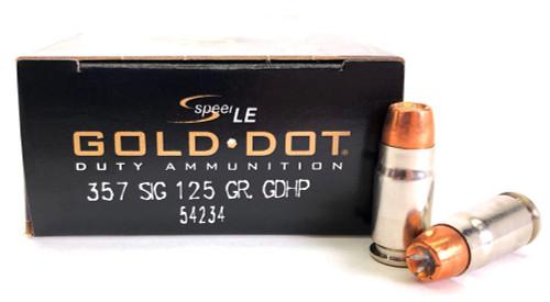 357 Sig 125 Grain Gold Dot HP Speer CCI 54234 CC54234