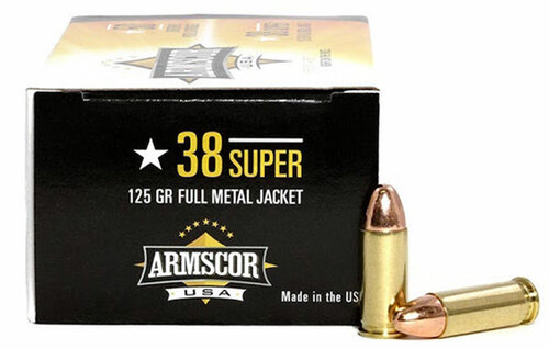 38 Super 125 Grain FMJ Armscor USA AC38SUPER-1N