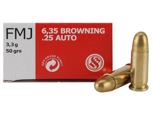 Surplus Ammo | Surplusammo.com 25 Auto 50 Grain FMJ Sellier & Bellot