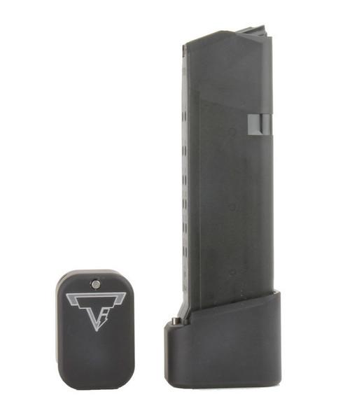 Surplus Ammo | Surplusammo.com GLOCK 19/23 +4/5 Taran Tactical Base Pad - Flat Black  (GBP940C-0)