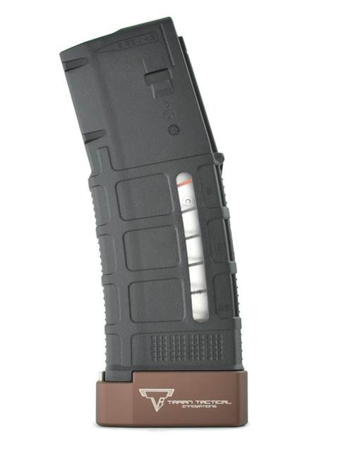 Surplus Ammo | Surplusammo.com PMAG +5 Taran Tactical Base Pad - Coyote Bronze  (PMBP-00)