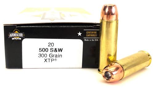 500 S&W Mag 300 Grain XTP Armscor USA - 20 Rounds F AC 50SW-1N