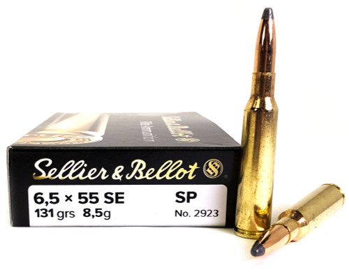 6.5x55mm Swedish 131 Gr SP Sellier & Bellot SB6555A