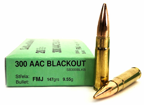 300 AAC Blackout 147 Grain FMJ Sellier & Bellot SB300BLKB