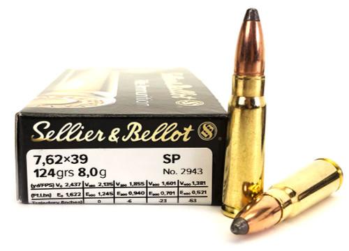 7.62x39 123 Grain SP Sellier & Bellot SB76239B