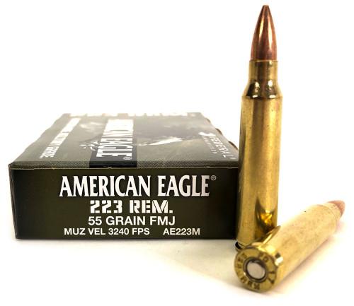 .223 55 Grain FMJ-BT Federal American Eagle AE223M FDAE223M