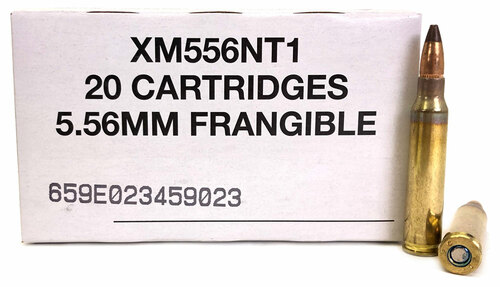 5.56 50 Grain Frangible SP Non-Toxic XM556NT1 Federal Lake City FDXM556NT1