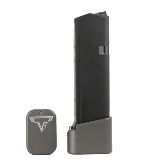 Surplus Ammo | Surplusammo.com GLOCK 19/23 +4/5 Taran Tactical Base Pad - Titanium Gray (GBP940C-5)