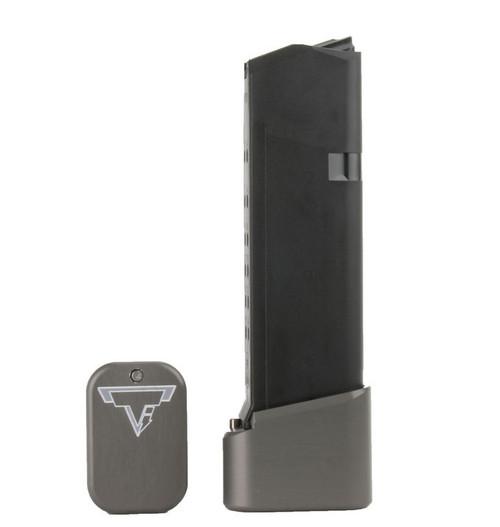 Surplus Ammo | Surplusammo.com GLOCK 19/23 +4/5 Taran Tactical Base Pad - Titanium Gray (GBP940C-5)