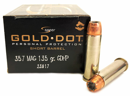 357 Magnum 135 Grain Gold Dot HP CCI Speer Short Barrel CC23917