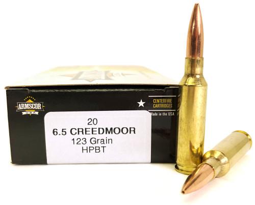 6.5 Creedmoor 123 Grain HPBT Armscor USA - 20 Rounds AC6.5C-1N