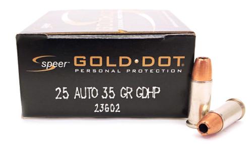 25 Auto/ACP 32 Grain GDHP Speer Gold Dot 23602