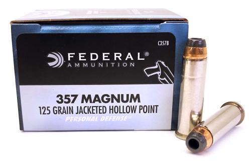 357 Magnum 125 Grain JHP Federal Premium Personal Defense C357B