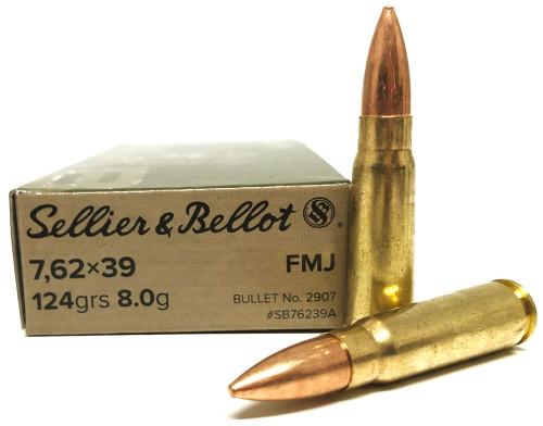 7.62x39 124 Grain FMJ Sellier & Bellot SB76239A