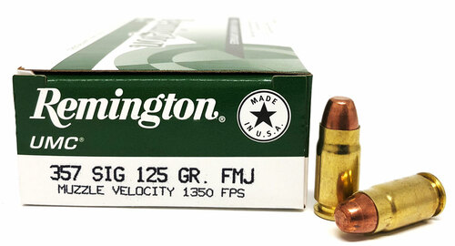 357 Sig 125 Grain FMJ Remington REM23737/L357S1
