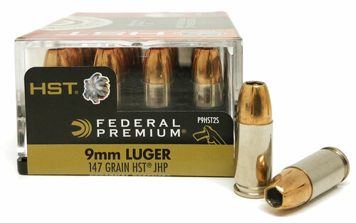 9mm 147 Grain Tactical HST HP Federal Premium 9HST2S FD9HST2S
