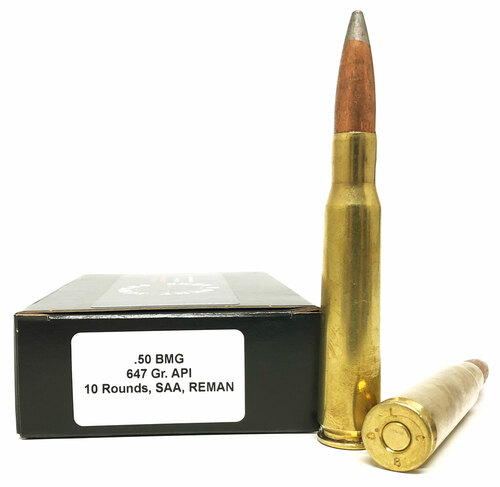 50 BMG 647 Grain API SAA Factory Reman. SAA50BMGAPI