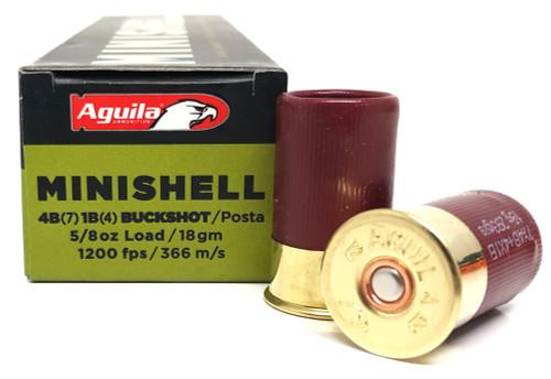 "12 Gauge Aguila 1 3/4"" MINISHELL Buckshot (4buck+1buck) 1CHB1288"