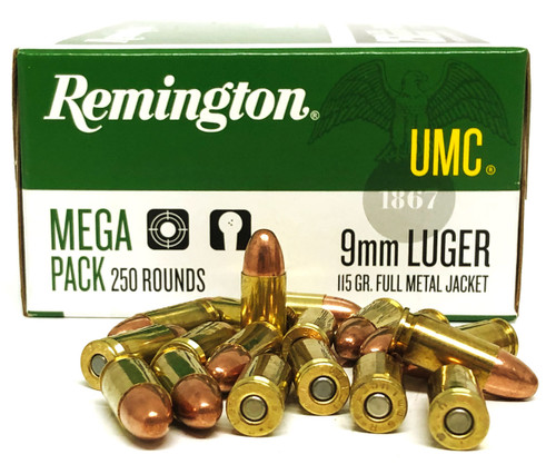 9mm Luger 115 Grain FMJ MAXXTech Brass Cased Ammunition For