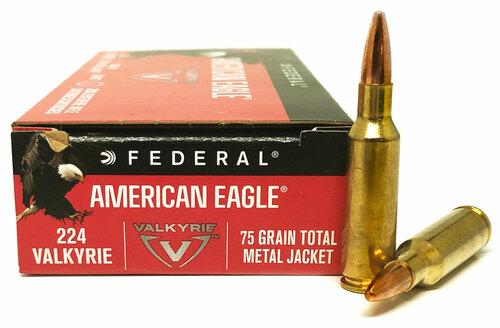 224 Valkyrie 75 Grain TMJ Federal American Eagle FDAE224VLK1