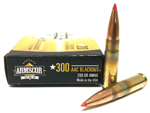 300 AAC Blackout 208 Grain A-MAX Subsonic Armscor USA AC300AAC