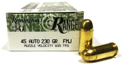 45 ACP 230 Grain FMJ Remington RANGE T45AP4