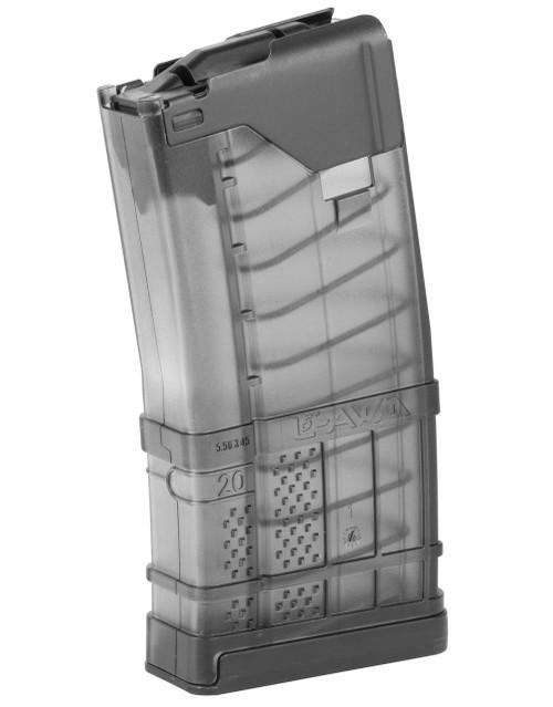Lancer Systems L5AWM Translucent AR-15 Magazine - 20 Rounds, Smoke .223/5.56 999-000-2320-02