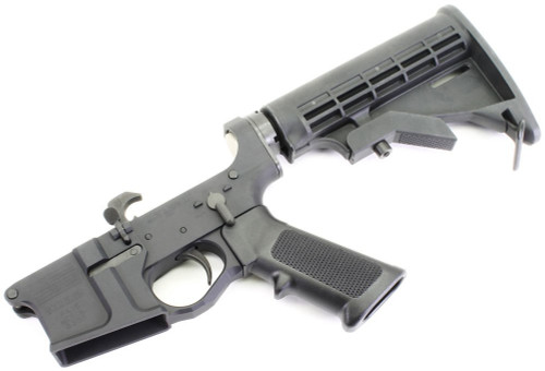 SOTA - Patriot PA 15 Billet AR15 Complete Lower with 4-Position Collapsing Stock SOTA-PA15-COMP-4posSTK