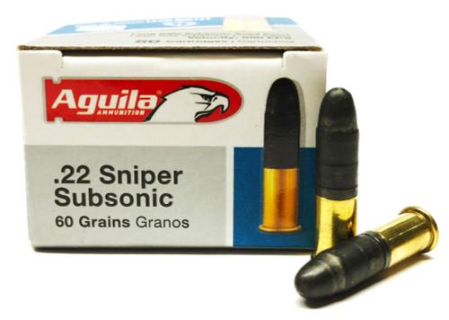 22 LR Aguila SSS Sniper SubSonic 60 Grain LRN 1B222112