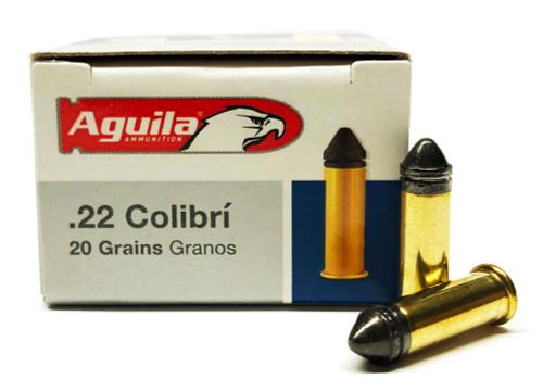 22 LR Aguila Colibri 20 Grain Subsonic Powderless 1B222337