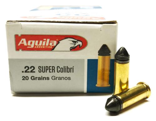 22 LR Aguila Super COLIBRI 20 Grain Subsonic Powderless 1B222339