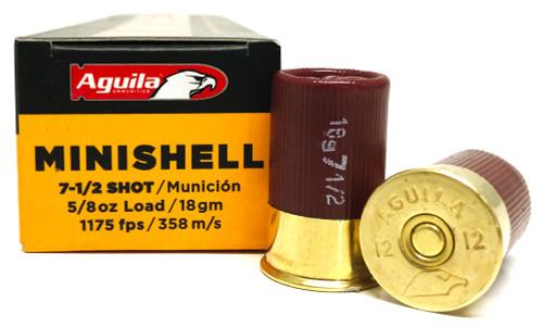 """12 Gauge Aguila 1 3/4"""" MINISHELL 7.5 BirdShot 1C128968 AGA1C128968"""