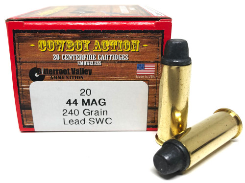 44 Magnum 240 Grain Lead SWC BVAC Cowboy Action NEW FBV44M-1NCB