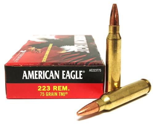 .223 75 Grain TMJ Federal American Eagle AE223T75 FDAE223T75