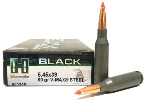 5.45x39 60 Grain V-Max Hornady Black Steel HO81246