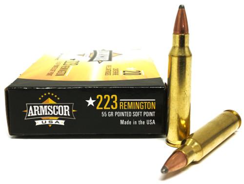 .223 55 Grain Pointed Soft Point (PSP) Armscor USA F AC223-2N-20