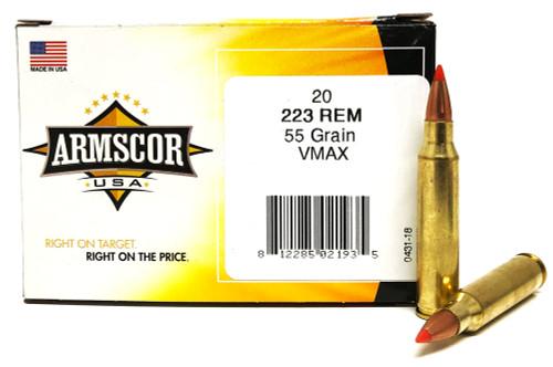 .223 55 Grain VMAX Armscor USA F AC223-5N-20