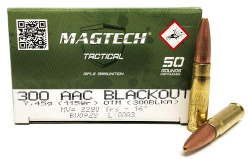 300 AAC Blackout 115 Grain OTM Magtech 300BLKA MT300BLKA