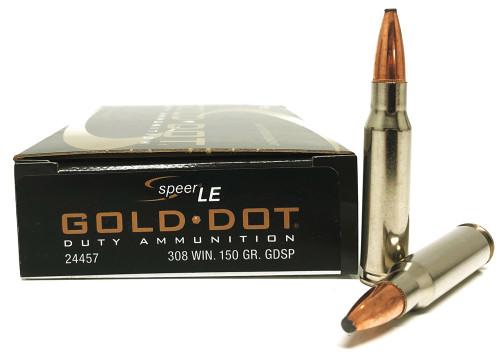 .308 Win 150 Grain Gold Dot SP Speer CCI Law Enforcement CC24457