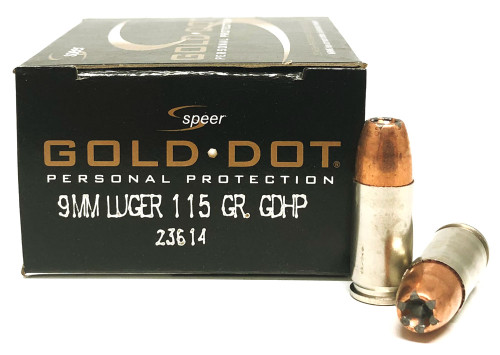 9mm 115 Grain GDHP Speer CCI Gold Dot CC23614