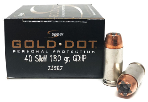 40 S&W 180 Grain Gold Dot HP Speer CCI CC23962