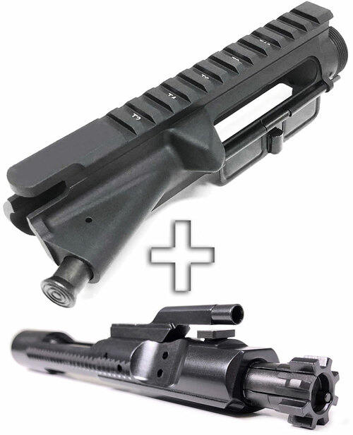 SAA Billet AR15 Assembled Flat Top Upper Receiver - T-Mark + Nitride 5.56 BCG SAAUP041-SAABP018