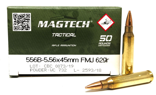 5.56 62 Grain FMJ Ball M193 Magtech Tactical MT556B