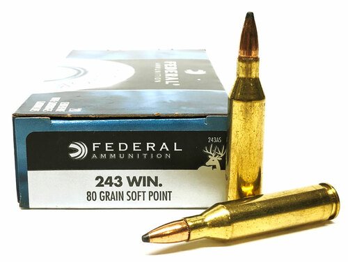 .243 Win 80 Grain SP Federal Power-Shok FD243AS