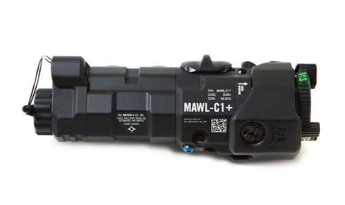 B.E. Meyers Mawl-C1+ IR / Visible Laser with EC2 Tail Cap - BLACK BEM-MAWL-C1+-BLK