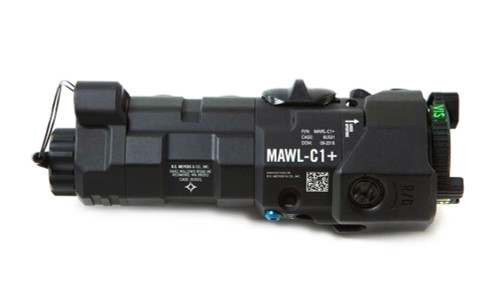 B.E. Meyers Mawl-C1+ IR / Visible Laser with EC2 Tail Cap - BLACK BEM-MAWL-C1+-BLK