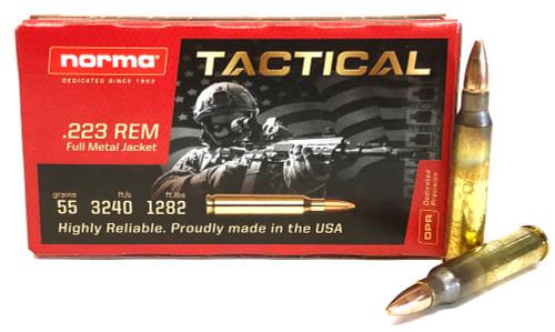 .223 55 Gr FMJ Norma Tactical DPR NRMA-295040020