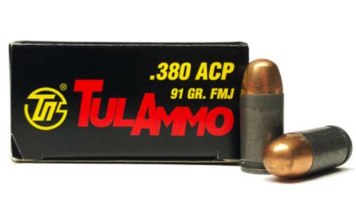 380 Auto 91 Grain FMJ TulAmmo TA380910