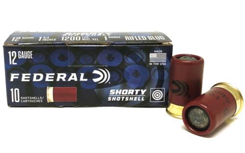 "12 Gauge Federal SHORTY Shotshells 1-3/4"" Rifled 1 oz. HP SLUG FSH129RS"